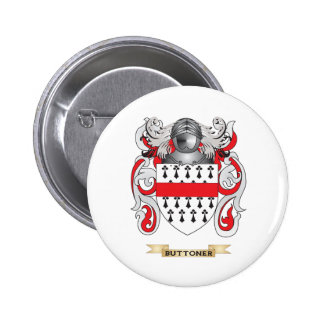 Buttoner Coat of Arms (Family Crest) Pinback Button