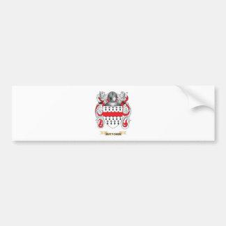 Buttoner Coat of Arms (Family Crest) Car Bumper Sticker