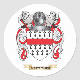 Buttoner Coat of Arms Family Crest Stickers