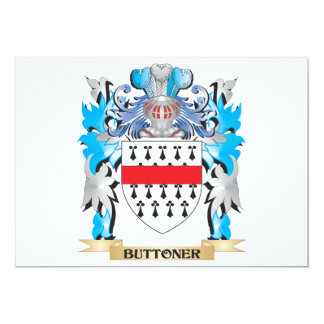 """Buttoner Coat of Arms 5"""" X 7"""" Invitation Card"""