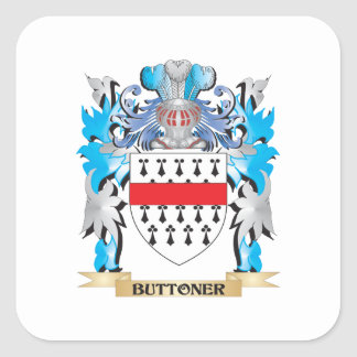 Buttoner Coat of Arms Square Stickers