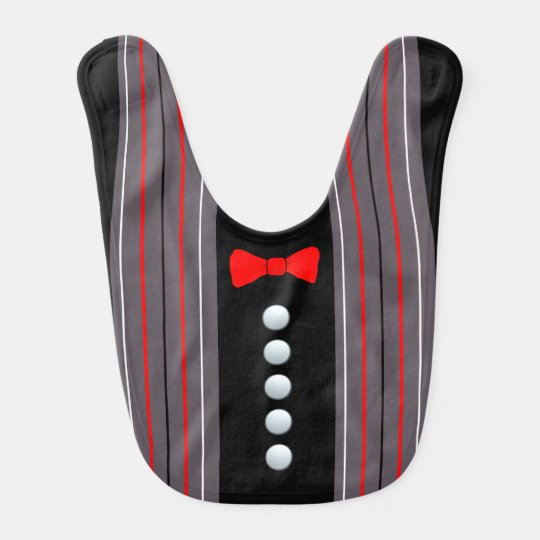 Buttons And A Bow Bib