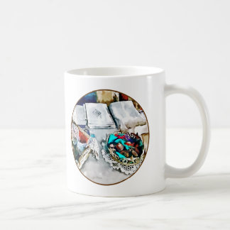 Buttons and Lace Coffee Mugs
