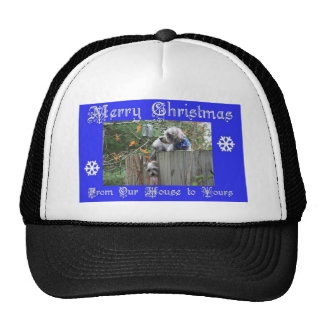 Buttons and Tank Merry Christmas Mesh Hats