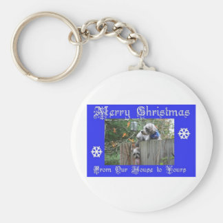 Buttons and Tank Merry Christmas Keychain