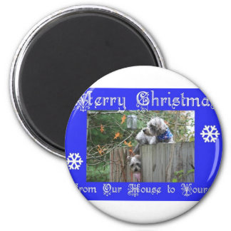 Buttons and Tank Merry Christmas Magnet