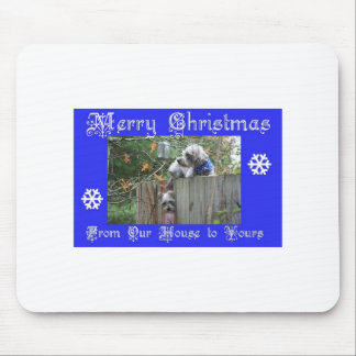Buttons and Tank Merry Christmas Mouse Pads