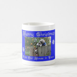 Buttons and Tank Merry Christmas Coffee Mugs