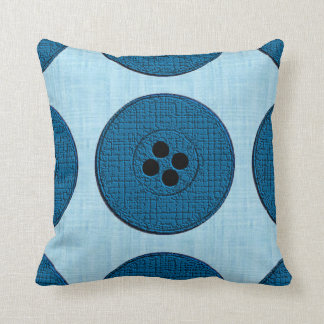 Buttons (blue/aqua) pillows