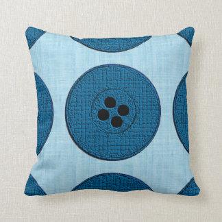 Buttons (blue/aqua) pillows
