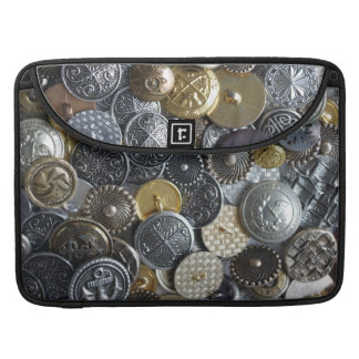 Buttons collection sleeve for MacBook pro
