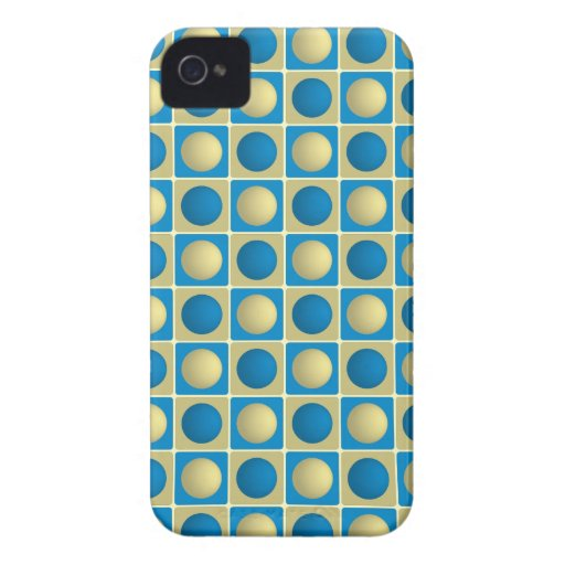 Buttons in Squares Blue Blackberry Bold Case