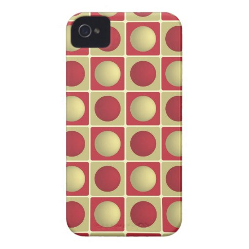 Buttons in Squares Red Blackberry Bold Case