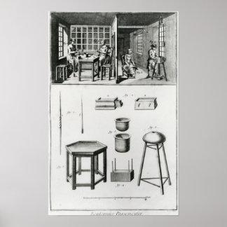 Buttons maker & lace maker print