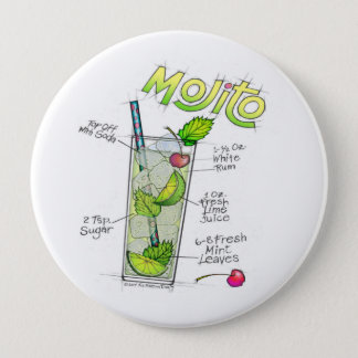 BUTTONS - MOJITO RECIPE COCKTAIL ART