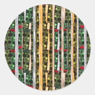 Buttons n Cut Fabric Pattern Art : Greetings Bless Sticker