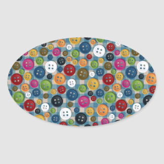 Buttons Oval Sticker