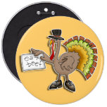 Buttons, Pins, Badges - Thanksgiving Turkey
