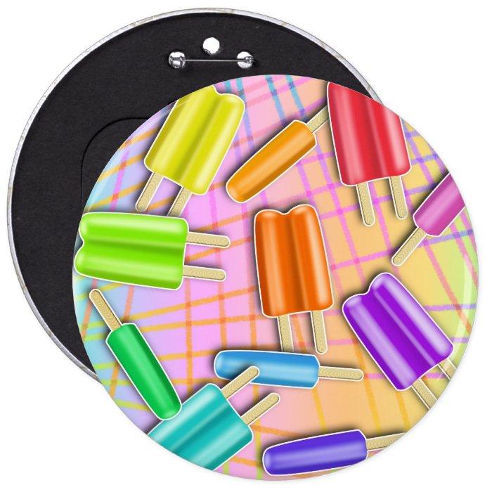 Buttons, Pins - Chillaxin' Pop Sicles
