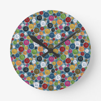 Buttons Round Clock