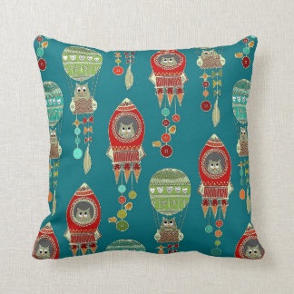 buttons to the moon (teal) cushion