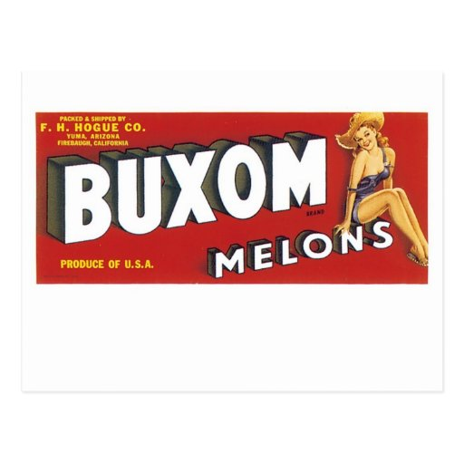 Buxom Melons Post Cards