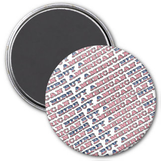 Buy American Hire American Quote Trump Patriotic 7.5 Cm Round Magnet