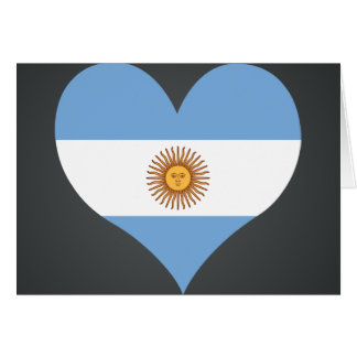 Buy Argentina Flag Card