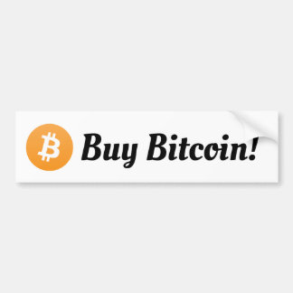 Buy Bitcoin Bumper Sticker
