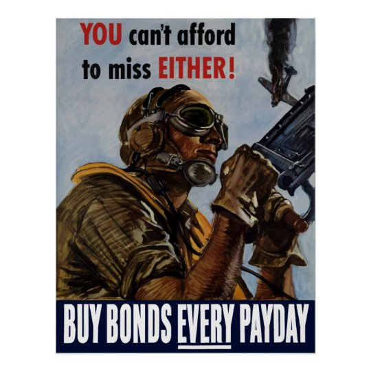 Buy Bonds Every Payday -- WW2 Poster