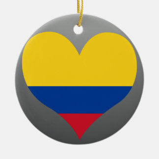Buy Colombia Flag Round Ceramic Decoration