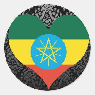 Buy Ethiopia Flag Classic Round Sticker