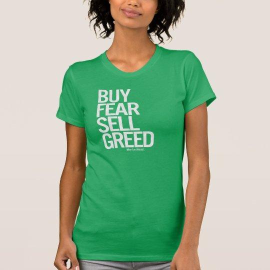 """""""Buy Fear, Sell Greed"""" Women's Tee (Dark)"""