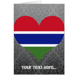 Buy Gambia Flag Card