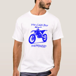 Buy Happiness - Blue on White T-Shirt