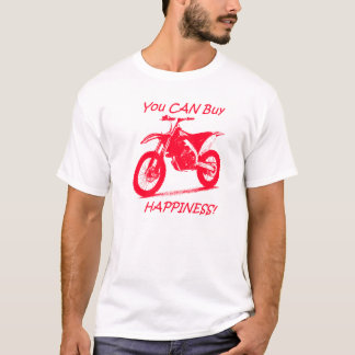 Buy Happiness - Red on White T-Shirt