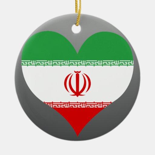 Buy Iran Flag Round Ceramic Decoration