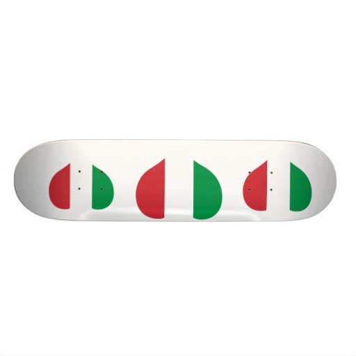 Buy Italy Flag 21.3 Cm Mini Skateboard Deck