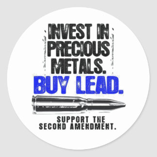 BUY LEAD 2ND AMENDMENT.png Round Sticker