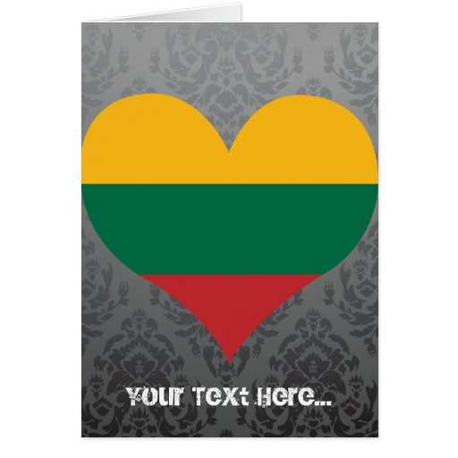 Buy Lithuania Flag Card