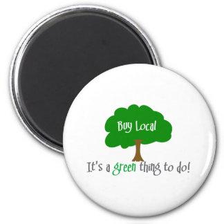 Buy Local 6 Cm Round Magnet