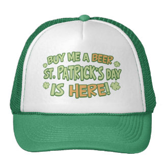 Buy Me A Beer St. Patrick's Day Mesh Hat