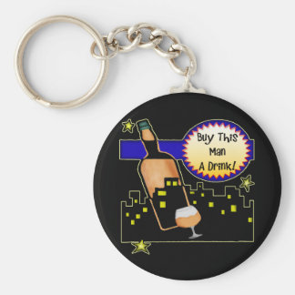 Buy Me A Drink Beer T-shirts Gifts Basic Round Button Key Ring