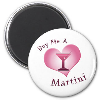 Buy Me A Martini 6 Cm Round Magnet