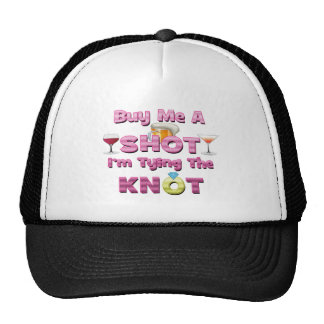buy me a shot i'm tying the knot sayings quotes mesh hat