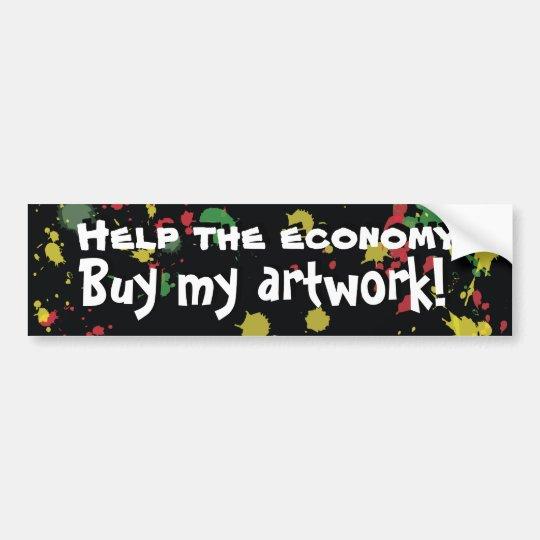 Buy My Artwork! Bumper Sticker