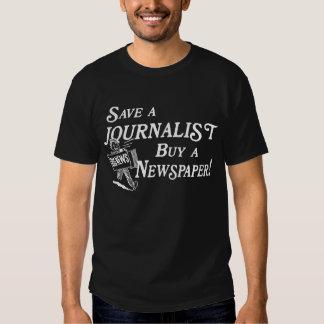 Buy Newspaper Save Journalist Basic Dark Tee