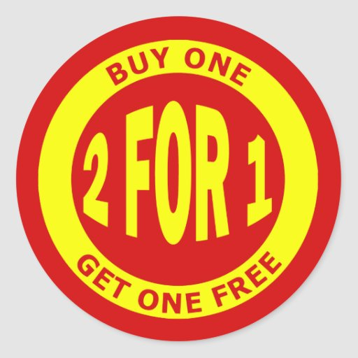 Buy One Get One: BUY ONE GET ONE FREE STICKER