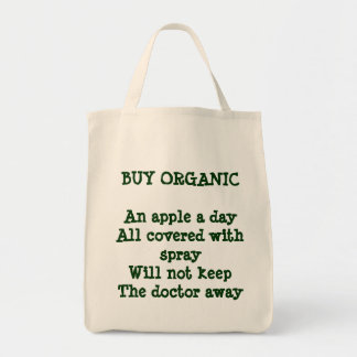 BUY ORGANICAn apple a dayAll covered with spray Canvas Bag