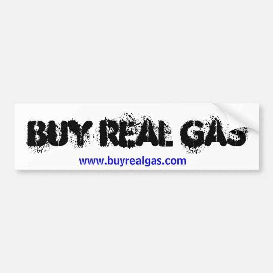 Buy Real Gas Bumper Sticker